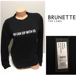🆕BRUNETTE THE LABEL - YOU CAN SIP WITH US - XS/S